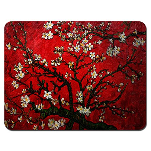 (Meffort Inc Standard 9.5 x 7.9 Inch Mouse Pad - Vincent van Gogh Cherry Blossoming)