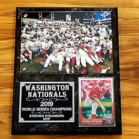 Washington Nationals 2 2019 World Series Champions Washington Post Newspapers - Double Matted Framed in Authentic Team Colors