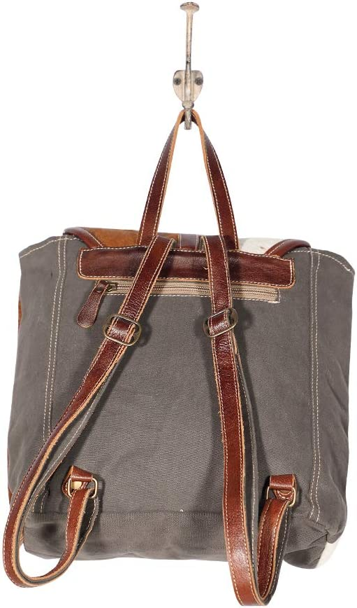 Rug Myra Bags Cool Canvas Leather /& Hairon Backpack S-1988