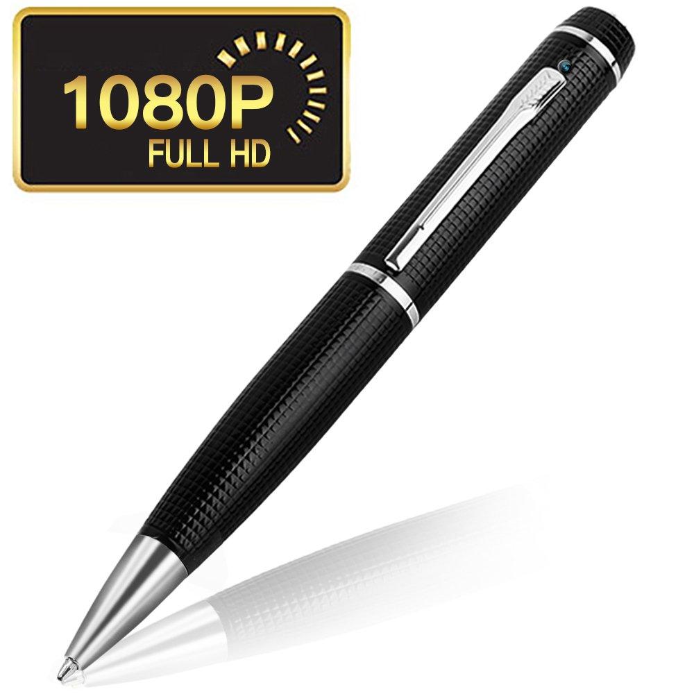 Hidden Camera HD 1920x1080p Pen.Rechargeable Battery.Surveillance DVR Pen.Business Executive Portable Educational Professional Documentation Device. Plug and Play.(Silver,Black,Funshare)