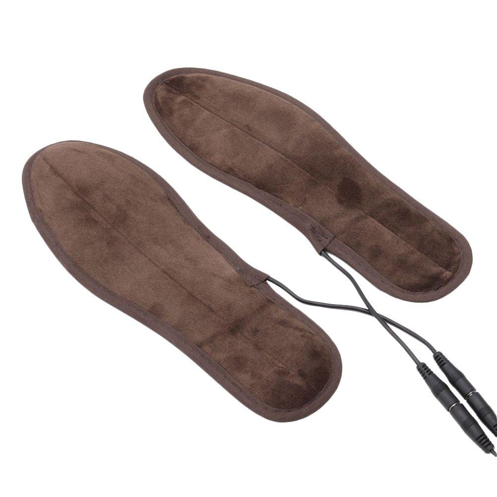 BESTOMZ Plantillas Calefactables USB Eléctrico Calentadores de Pies con Cable USB Café: Amazon.es: Deportes y aire libre