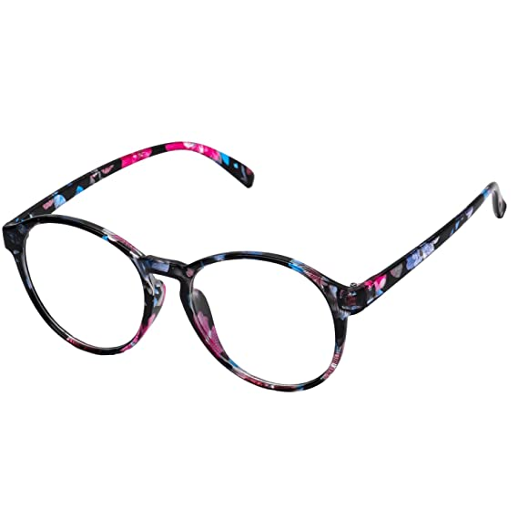 0960388332 Forepin® Montura para Gafas de Vista Mujeres y Hombre Retro Redonda Vintage  Visión Clara Glasses Cristal Lente Transparente - Florida azul: Amazon.es:  Ropa ...