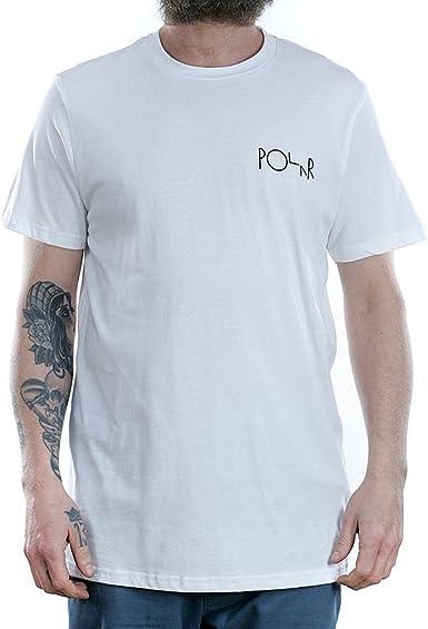 Polar Skate Co.. - Camiseta - para Hombre Blanco Blanco Medium: Amazon.es: Ropa y accesorios