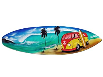 Seestern Sportswear FBA_1750 - Tabla de Surf (Madera, 100 cm de Longitud), diseño de Surf: Amazon.es: Juguetes y juegos