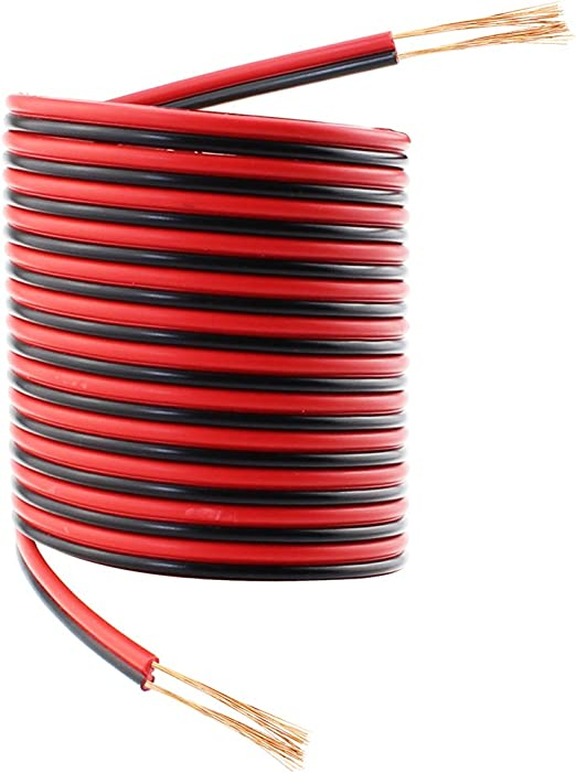 100 FT OFC 4 Conductor Sky High Wire Cable Speaker Trailer Copper LED