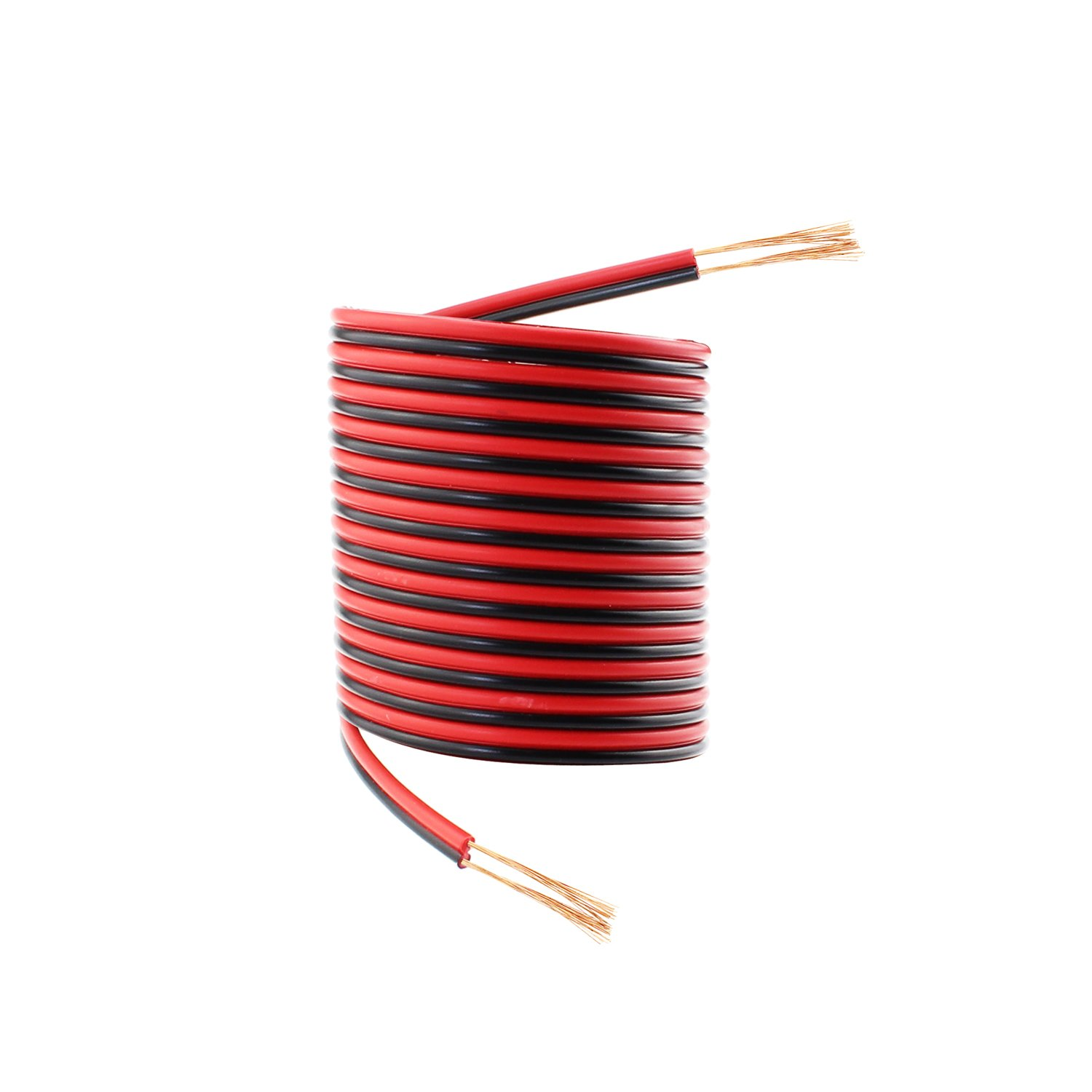 20 AWG Audio Cable 2 Conductor Electric Speaker Cable for Radios and Led Light Applications SIM/&NAT Direct SIM/&NAT 33ft Red Black Hookup Wire