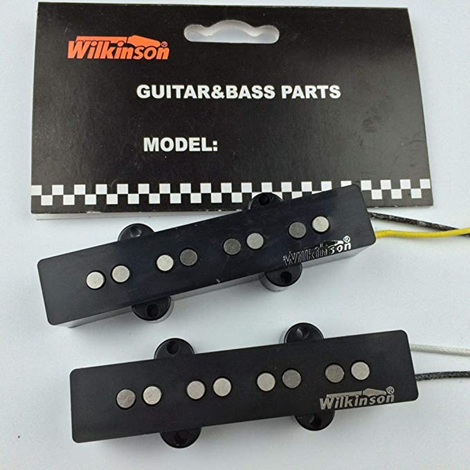 Wilkinson Variable Gauss Ceramic Traditional Jazz Bass Bridge Pickup for JB Style Electric Bass Black
