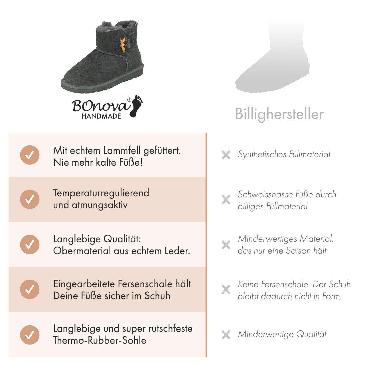 BOnova Göteborg Göteborg Göteborg Lammfellstiefel in 3 Farben 837c02
