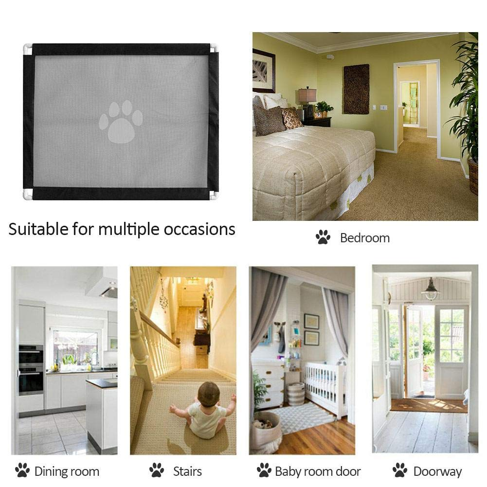 Install To Divide Walkways Doorways Stairs For Pet Animals Toddlers /& Babies Safe Ardorman Retractable Pet Gate,Magic Gate Portable Folding Safe Guard