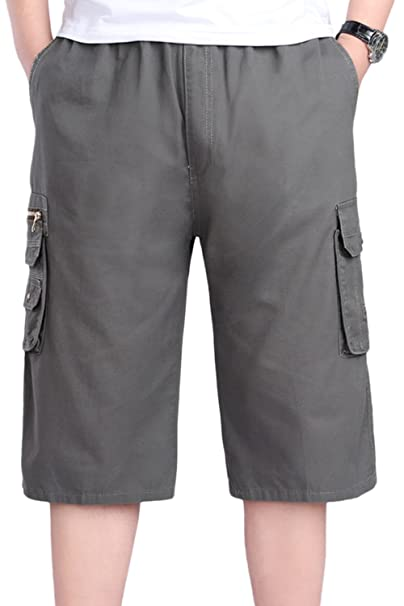 Simgahuva Men 's Classic Fit Cargo Short Sportswear Shorts Plisados m2Fxz