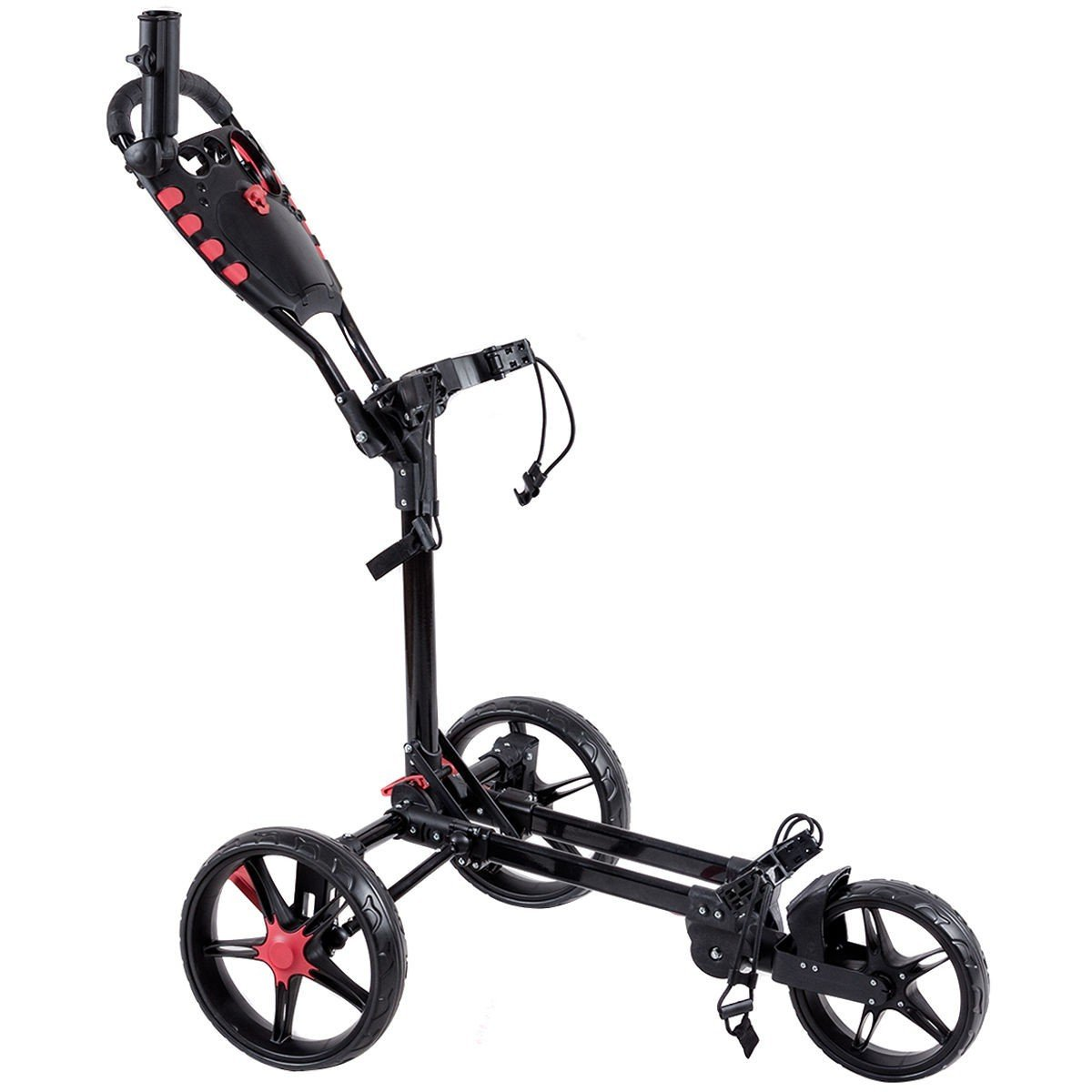 Exquisite Folding Golf Cart with Adjustable Push Handle by Apontus