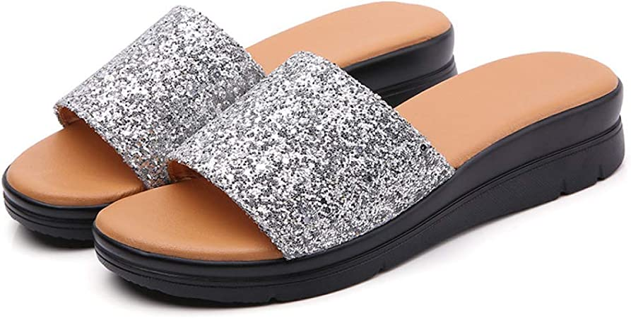 Silver Summer Ladies Casual Sequins