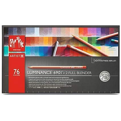 Caran dache Luminance 6901 - Paquete de 76 lápices de colores, multicolor