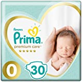 Prima Bebek Bezi Premium Care 0 Beden Prematüre Tekli Paket, 30 Adet