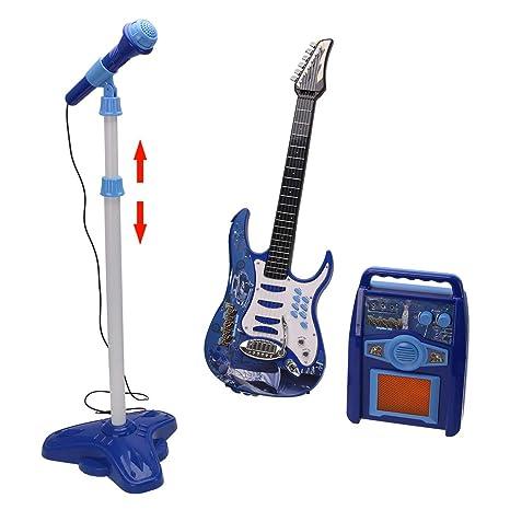 Tosbess Juguete Musical Guitarra -Micro-Bafle Electrónico Flash