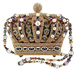 Hand Beaded Royal Crown Handbag