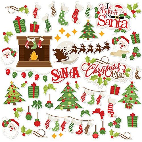 - Paper Die Cuts - Christmas Eve - Over 60 Cardstock Scrapbook Die Cuts - by Miss Kate Cuttables