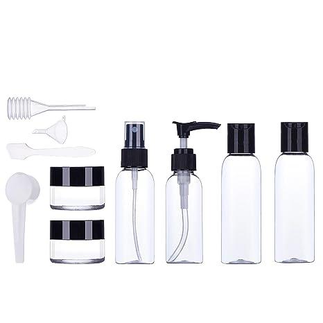 ZeWoo 10 Pcs Botellas de Viaje – Envases Cosmetica Botella de viaje a prueba de fugas