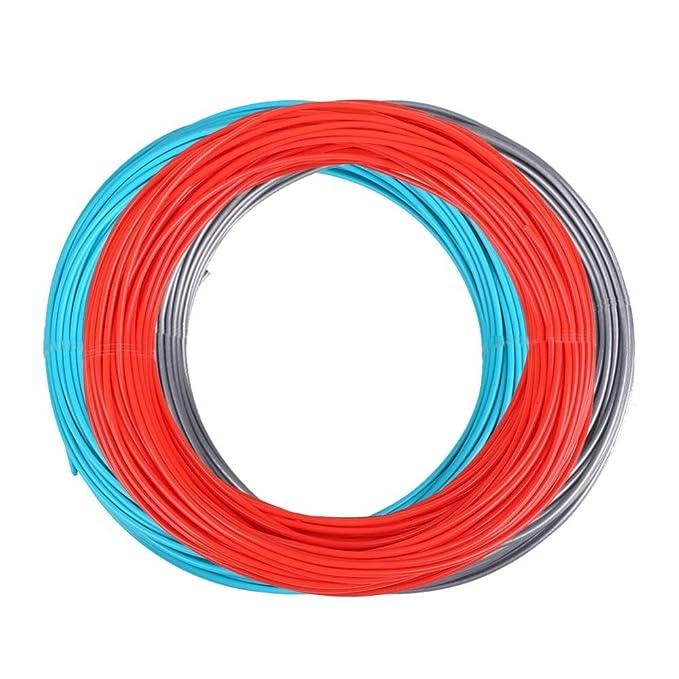 FAN-MING-N-3D, 3 m x 3 Colores, filamento de bolígrafo 3D PLA 1.75 ...