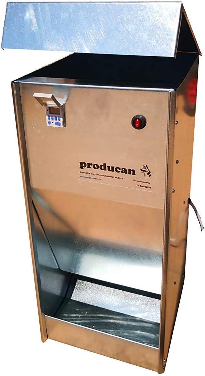 Comedero automático profesional programable de 40 litros de capacidad. Válido para exterior.