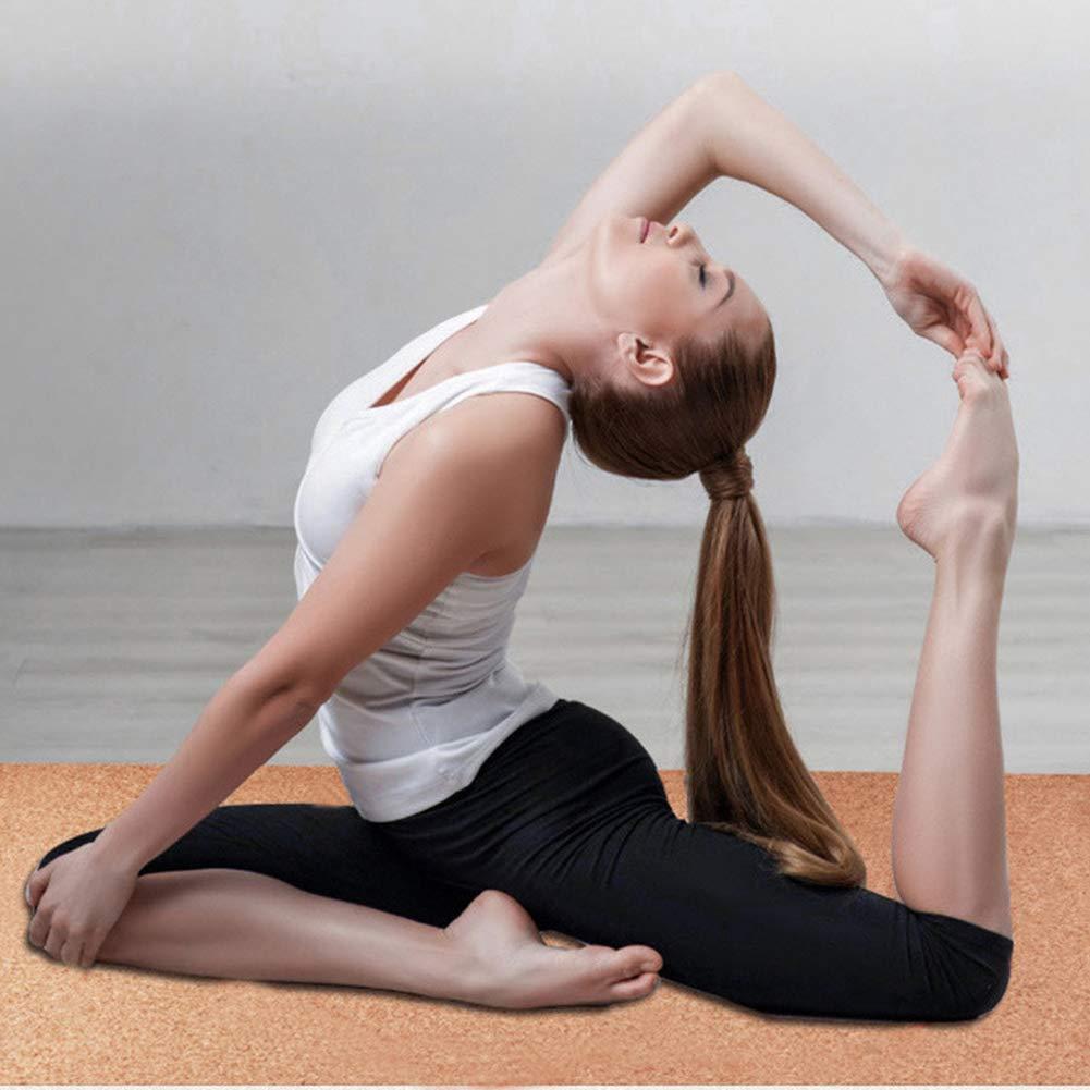 ZQSLD Esterilla Yoga,Corcho Natural de Alta Densidad ...