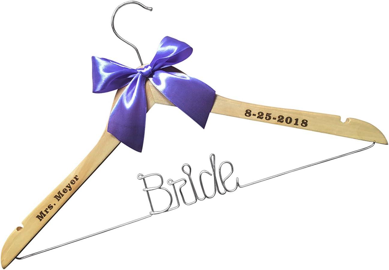 Personalized Bridal Dress Hanger Wedding Gift Wedding Hangers with Names SET OF 4 Bridesmaid Hangers Engraved Bridesmaid Hanger