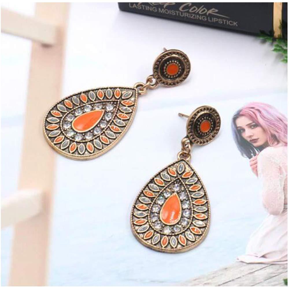Ethnic Retro Bohemian Droplets Color Dress Mexico Gypsy Dangle Earrings