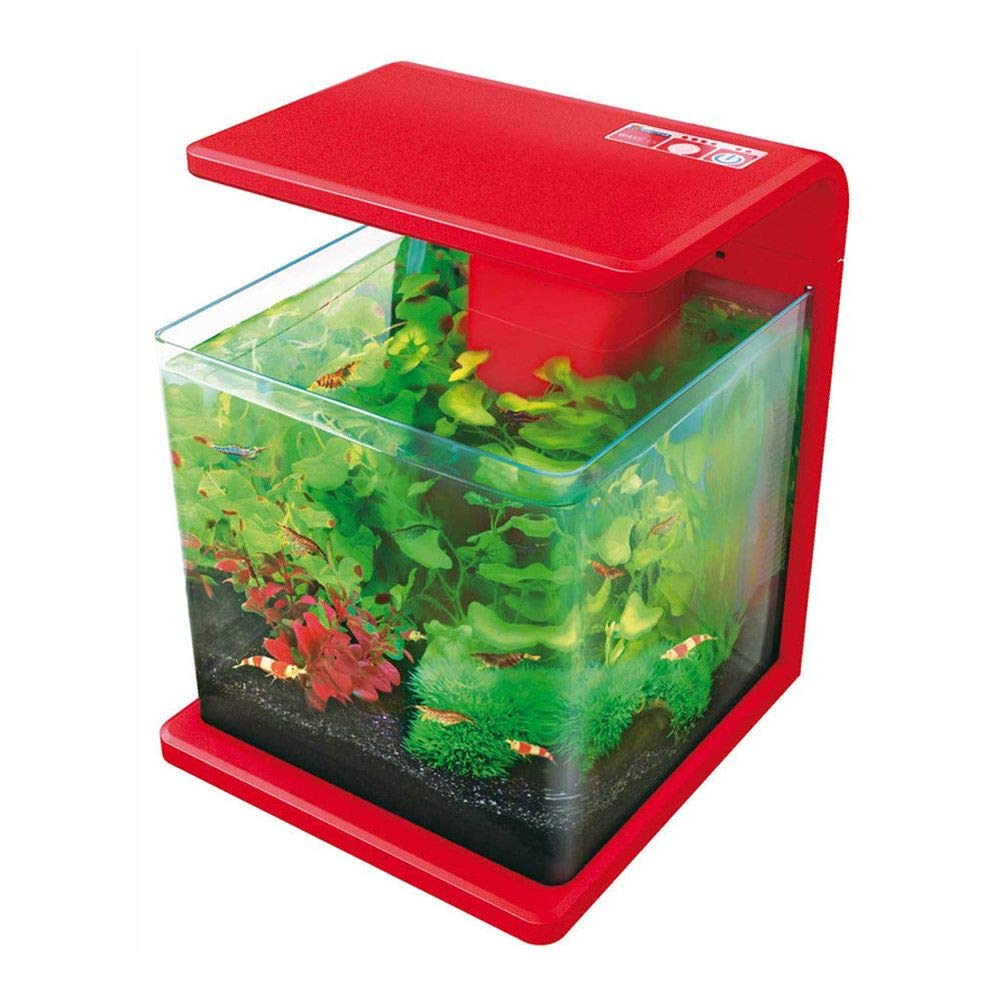 Red 15 Litre Wave Aquarium Red 15 Litre Wave Aquarium Pet's House SUPERFISH WAVE AQUARIUM 15L 30L GLASS FISH TANK COMPLETE WITH LIGHTS AND FILTER