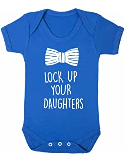 2b6398a57e5 ART HUSTLE Lock up Your Daughters Baby Boy Girl Unisex Short Sleeve Bodysuit