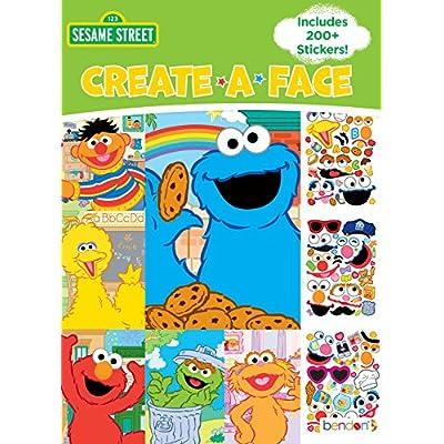 Bendon Create-a-Face Sticker Book, Sesame Street: Toys & Games