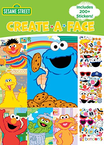 Bendon Create-a-Face Sticker Book, Sesame Street