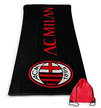 Toalla Playa Sport Milan tamaño grande cm. 90 x 170 Original a.C. Milan: Amazon.es: Hogar