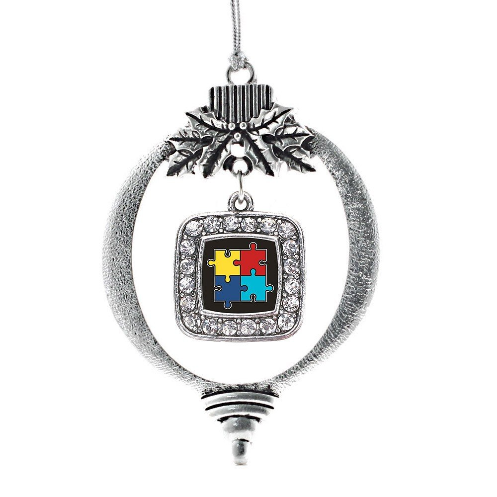 Amazon.com: Inspired Silver Autism Awareness Jigsaw Classic Holiday ...