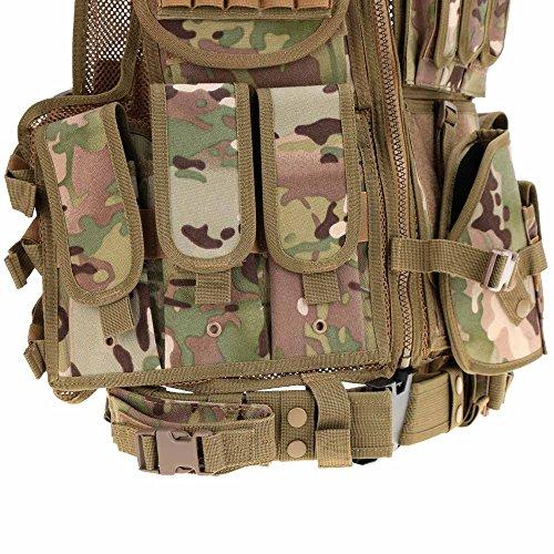 Lixada Armée Tactique Vest extérieure CS Champ Swat air de Jeu de Guerre Cosplay de Counter Strike Jeu Chasse Camping… 5