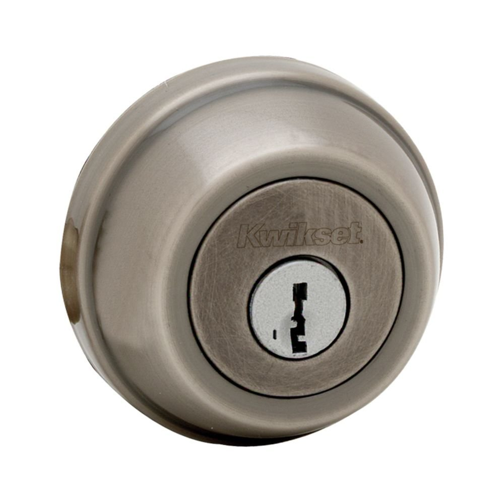 Kwikset 780 Single Cylinder Deadbolt featuring SmartKey in Satin Nickel Kwikset Corporation 97800-199