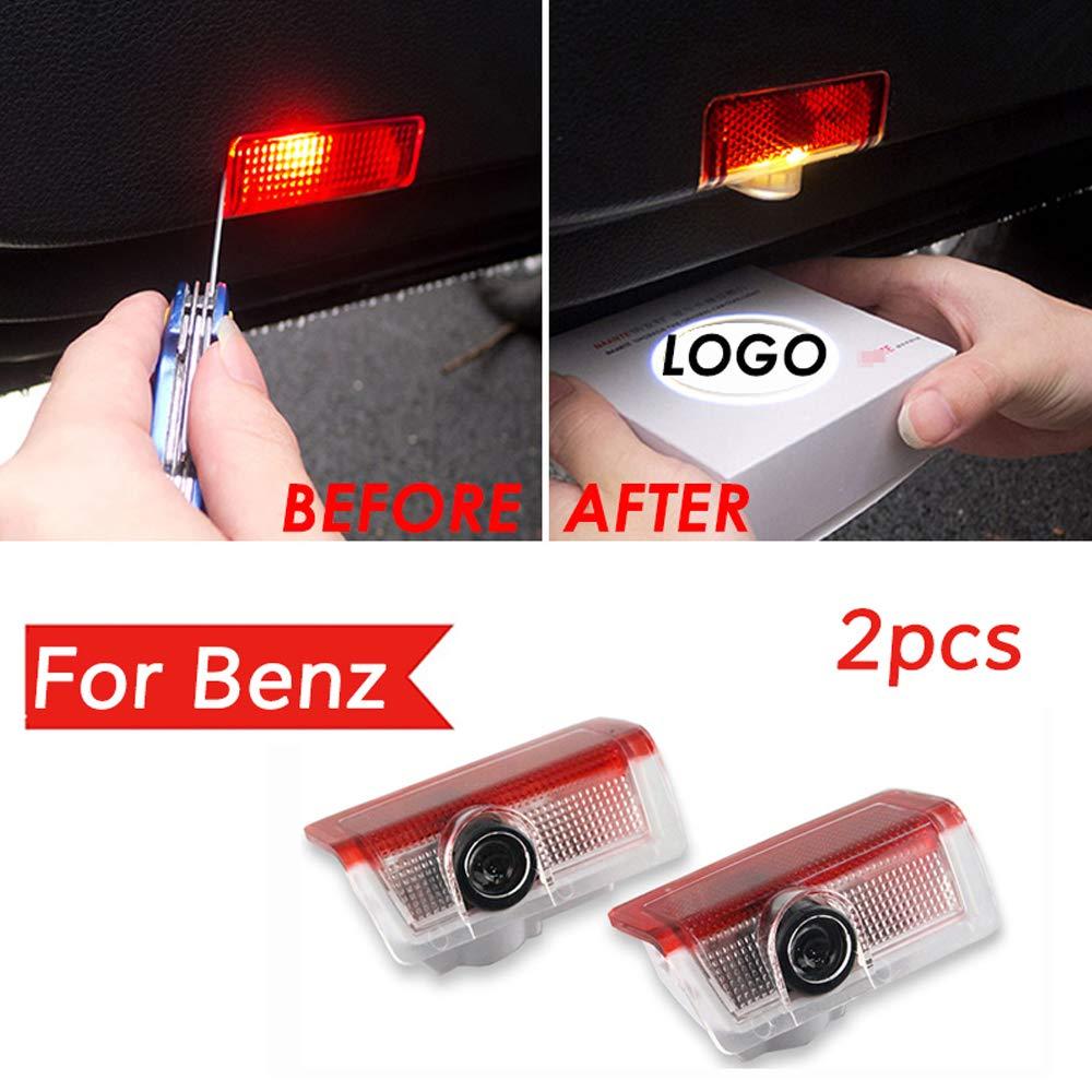 ZHANGNA Einfache Installation,T/ürbeleuchtung Einstiegsleuchte,Autot/ür 2 st/ücke W204-BENZ logo