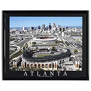 Amazon.com: Framed Baseball Atlanta Braves Stadium Aerial