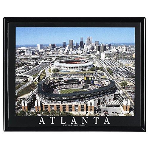 Framed Baseball Atlanta Braves Stadium Aerial View F7501A