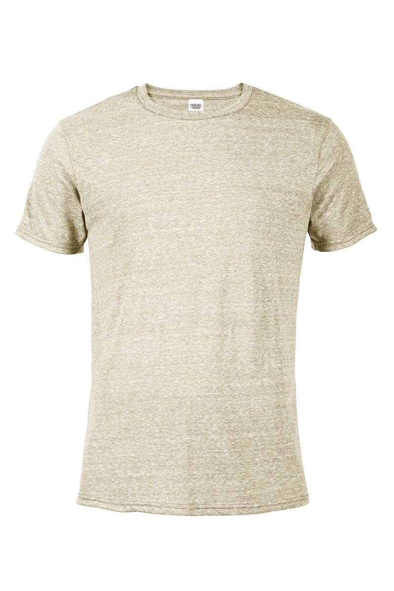 Casual Garb Men's Snow Heather Fitted T Shirt Short Sleeve Crew Neck T-Shirts for Men Putty Large by Casual Garb