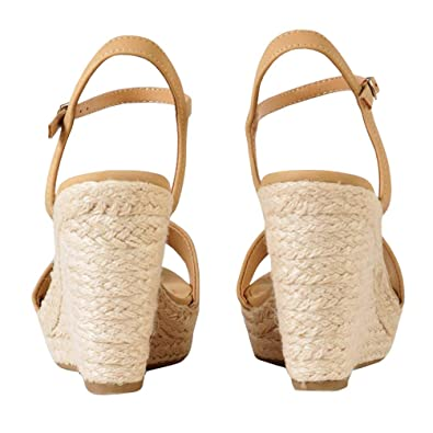 676a181916f6a Amazon.com   Nailyhome Womens Espadrille Wedge Sandals Open Toe ...