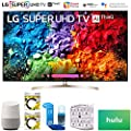"LG 65SK9500PUA 65"" Super UHD 4K HDR AI Smart TV w/Nano Cell 2018 Model (65SK9500PUA) + Google Home, 2x 6ft HDMI Cable, Screen Cleaner for LED TVs, 6-Outlet Surge Adapter & 100 Hulu PLUS Gift Card"
