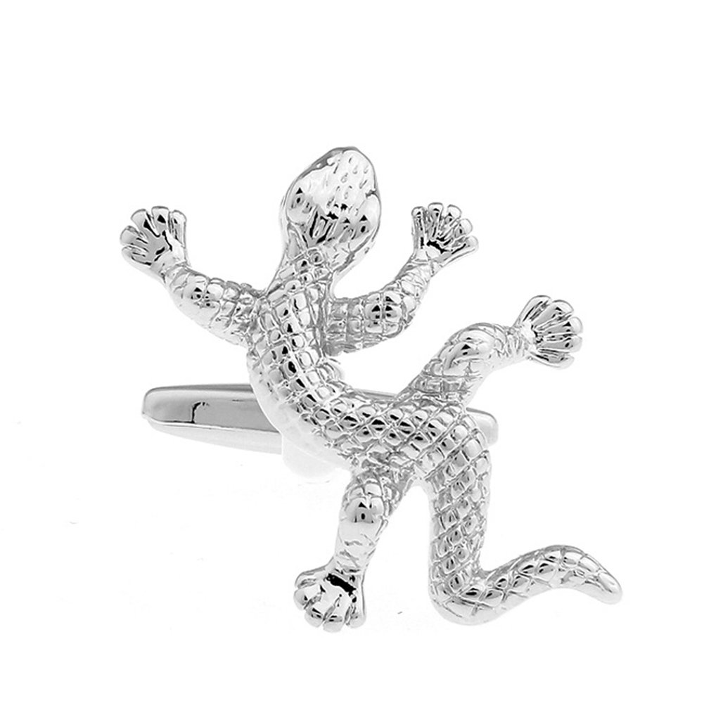 Hosaire Men's Cufflinks Gecko Cuff Link Delicate Cuff-link for Wedding Party Golden by Hosaire (Image #2)