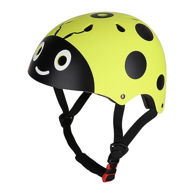 4b25c814d4 CHICTRY Casco Bicicleta Infantil Ciclismo Casco de Seguridad para Niños  Ajustable Casco de Animal Unisex Protección Patines Niños Amarillo One  Size: ...