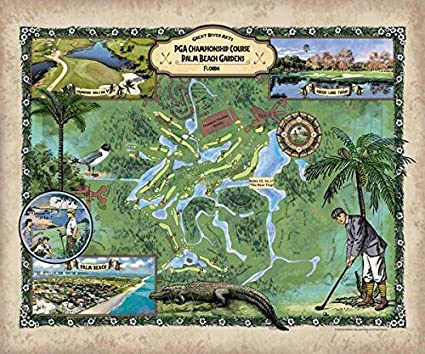 Image Unavailable. Image Not Available For. Color: Great River Arts 202 PGA  Championship Golf Course Palm Beach Gardens ...
