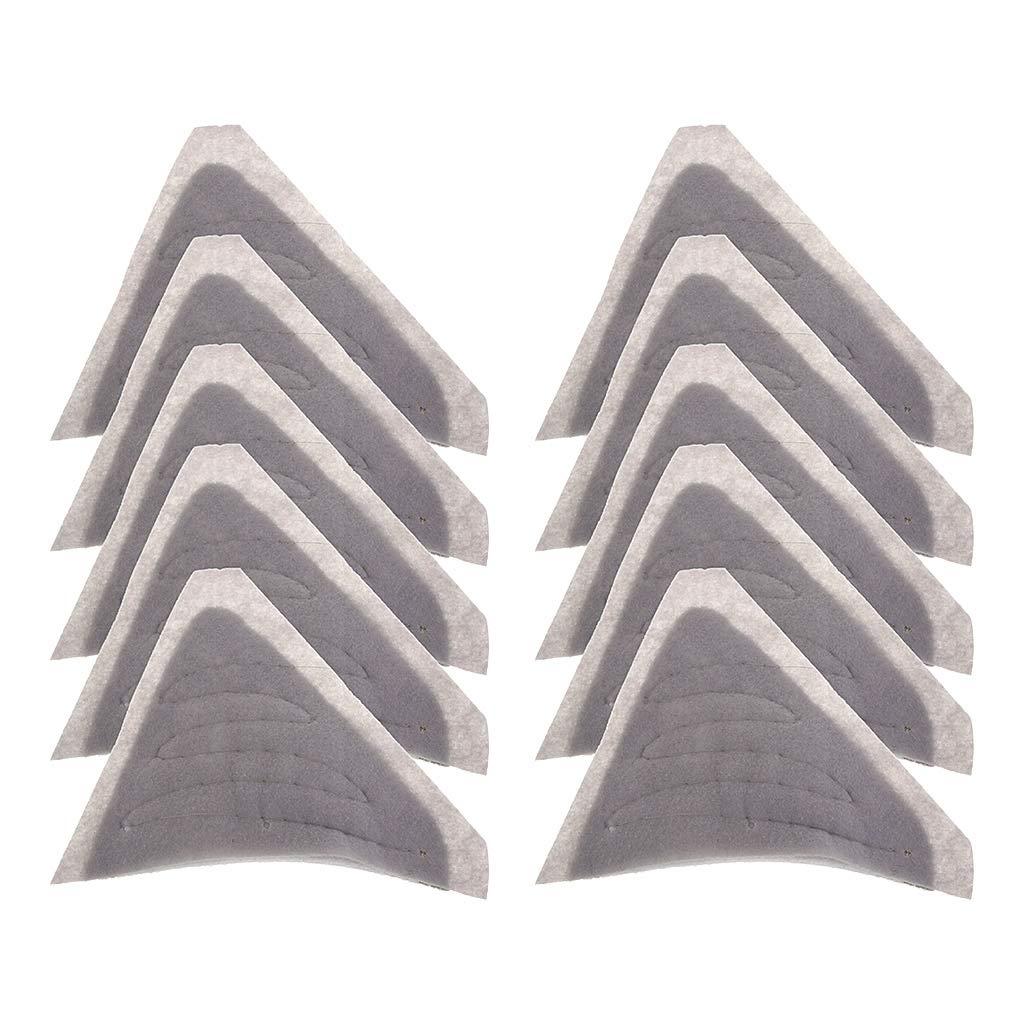 Homyl 5 Paires /Épaulette Amovibles Triangle pour Veste Coussin Cosplay Style de Mode Cuir Outils 25,5x20x1cm