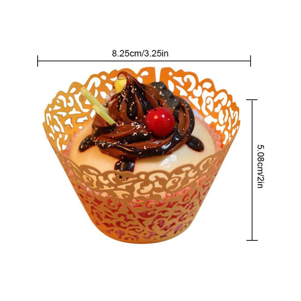 AOLVO moldes Cupcake 100pcs Mini Individual Filigrana Baking Cake Paper Holder Cupcake Moldes Papel Colores Mezclados más de 40 Ideal para decoración para ...