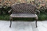 HOMEFUN Outdoor Bench Aluminum, Garden Park