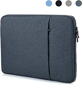 ProElife 12-Inch Laptop Sleeve Case Cover Canvas Tablet Protective Bag for Microsoft Surface Pro 4/Pro 5/Pro 6/Pro 7 12.3-Inch (2017 2018 2019) & MacBook Air 11.6-Inch MacBook 12-Inch (Navy Blue)