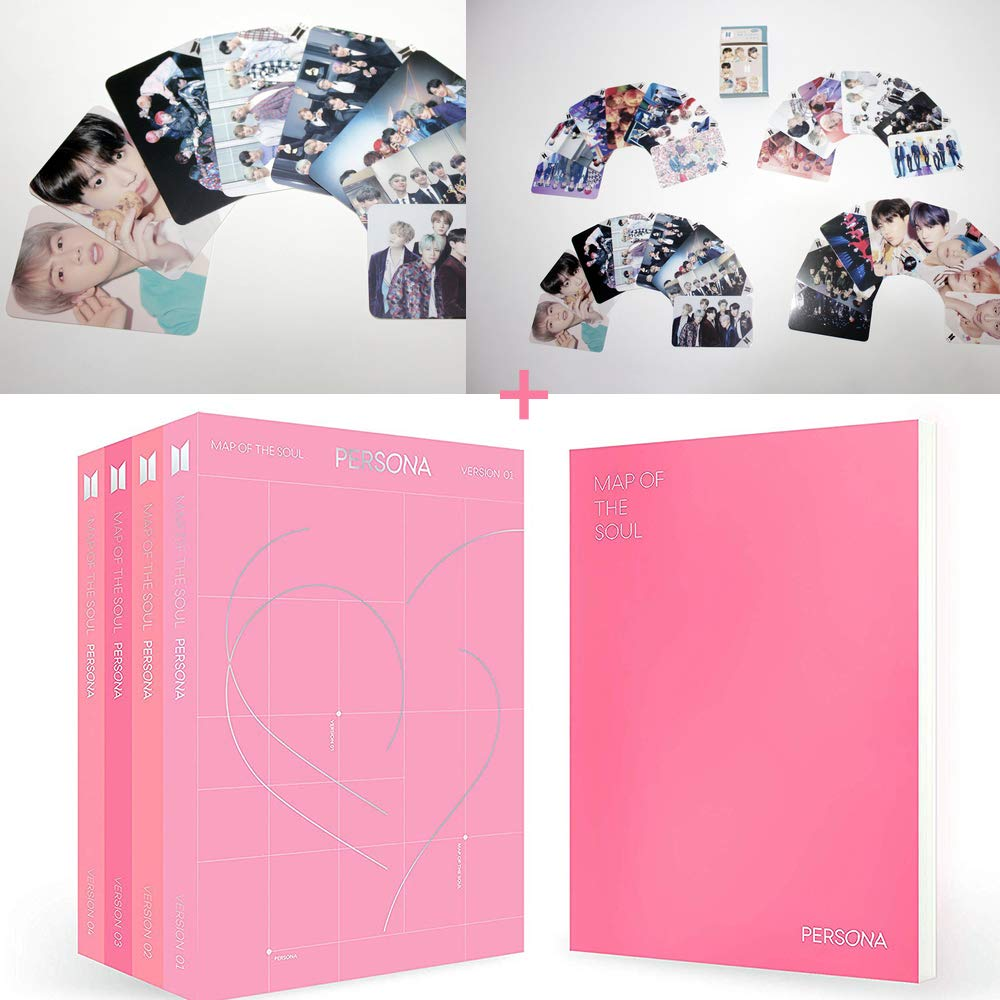 BigHit Ent BTS Map of The Soul Persona [ 01 02 03 04 ] All version Official [Pre-Order Edition] CD + Photobook + Mini Book + Photo Picket + Photocard + Postcard + PhotoFilm Kpop + Free 30 Photocards
