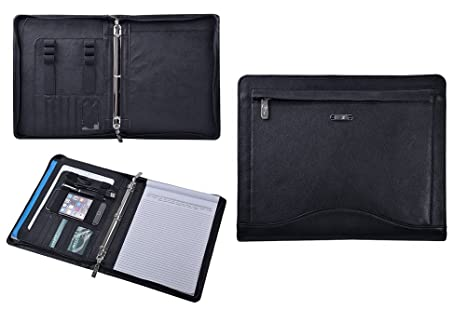 Amazon.com: piel portafolios de cartón, organizador Padfolio ...
